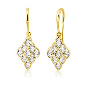 9ct Yellow Gold Splendid Diamond Earrings