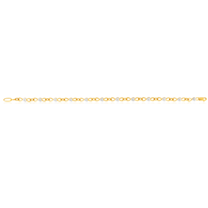 9ct Yellow Gold 5 Points Diamond Bracelet