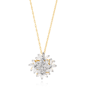 10ct Yellow Gold Diamond Pendant