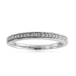 9ct White Gold Diamond Eternity Ring with 22 Brilliant Diamonds