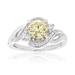 14ct White Gold Ring with 1.20 Carats of Diamond