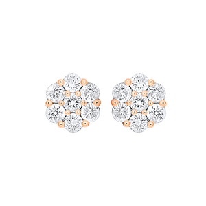 9ct Rose Gold 1/2 Carat Diamond Stud Earrings