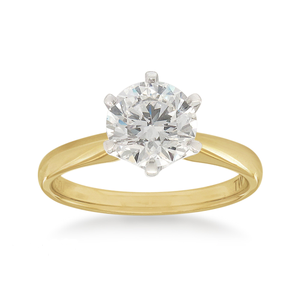18ct Yellow Gold 1 Carat Solitaire Diamond Ring