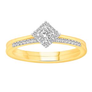 Princess Vera 14ct Yellow Gold 0.35 Carat Diamond Bridal Set Ring