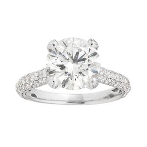 14ct White Gold 4.00 Carat Diamond Ring wtih 3.16 Carat L Certified Centre Diamond