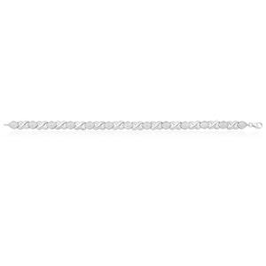 Sterling Silver 18.5cm Diamond Bracelet
