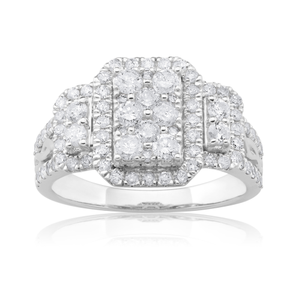 9ct White Gold 1.50 Carat Diamond Ring