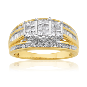 10ct Yellow Gold 1.00 Carat Diamond Ring