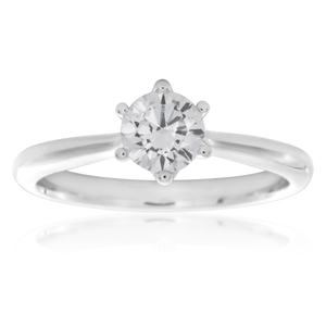Luminare Laboratory Grown 1/2 Carat Diamond Solitaire Ring in 18ct White Gold