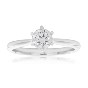 Luminare Lab Grown 3/4 Carat Diamond Ring in 18ct White Gold 6Claw Setting