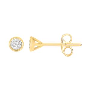 9ct Yellow Gold  0.15 Carat Diamond Stud Earrings