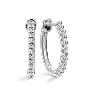 Hearts On Fire HOF Classic Diamond Hoop 18ct White Gold