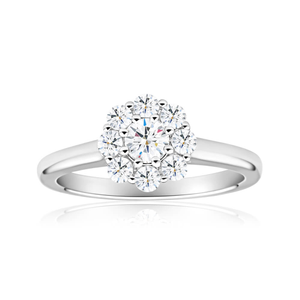 Flawless Cut 18ct White Gold Ring With 0.8 Carats Of Diamonds