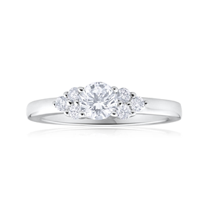 Flawless Cut 18ct White Gold Diamond Ring (TW=55pt)
