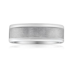 Flawless Cut 9ct White Gold & Titanium 7mm Ring
