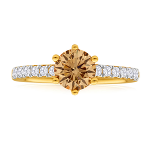 Flawless Cut 18ct Yellow Gold Ring With 1.2 Carats Of Diamonds