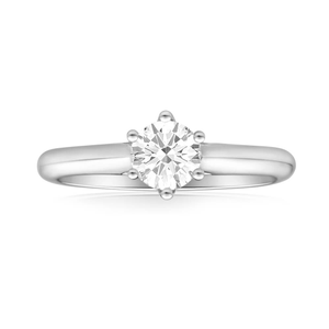 Flawless Cut 18ct White Gold Solitaire Ring With 0.7 Carat Diamond