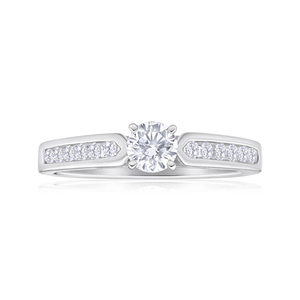 Flawless Cut 18ct White Gold Ring With 0.7 Carats Of Brilliant Cut Diamonds