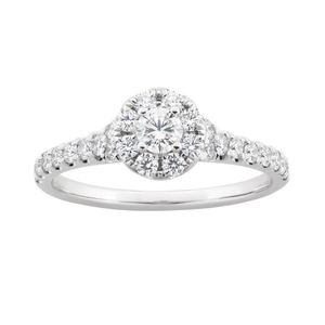 Flawless Cut 18ct White Gold Ring With 0.75 Carats Of Diamonds