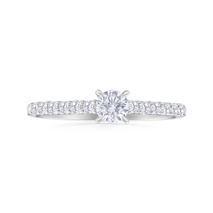 Flawless Cut 18ct White Gold Ring With 0.5 Carats Of Claw Set Diamonds