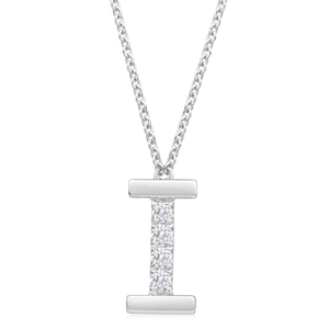 Flawless Cut 9ct White Gold Diamond I Pendant With 45cm Chain