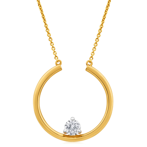 Flawless Cut 9ct Yellow Gold Swing With Me Diamond Pendant (TW=25-29pt)