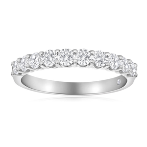 Flawless Cut 18ct White Gold Ring With 10 Diamonds