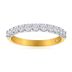Flawless Cut 18ct Yellow Gold Ring With 0.5 Carats Of Diamonds