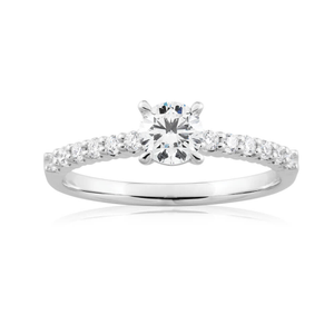 Flawless Cut 18ct White Gold Ring With 0.7 Carats Of Diamonds