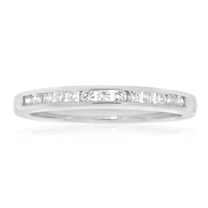 Flawless Cut 18ct White Gold Diamond Ring With 13 Diamonds (TW=25pt)