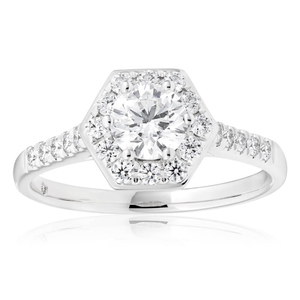 18ct White Gold 1.00 Carat Flawless Diamond Ring