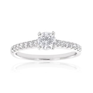 Flawless Cut 18ct White Gold Ring With 0.75 carats of Brilliant Cut Diamonds