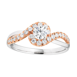 Flawless Cut Engagment Ring with 1/3 carat centre diamond. Total dia weight 3/4 carat