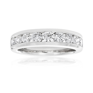 Flawless Cut 18ct White Gold Diamond Ring (TW=1CT)