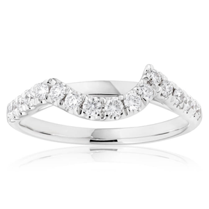 Flawless Cut 18ct White Gold with 1/3 Carat Diamonds