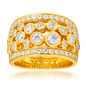 Flawless Cut 18ct Yellow Gold Diamond Ring