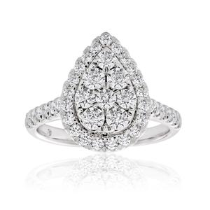Flawless 1 Carat 9ct White Gold Diamond Ring