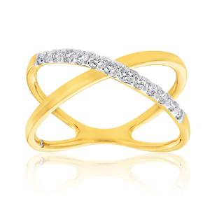 Flawless 1/4 Carat 9ct Yellow Gold Diamond Ring