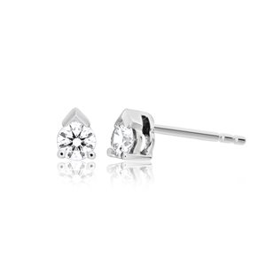 Flawless Cut 1/4 carat  9ct White Gold Diamond Stud Earrings