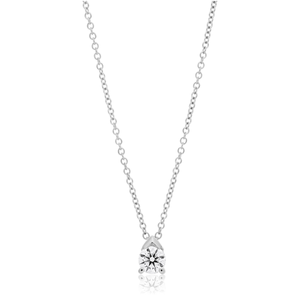 Flawless Cut 9ct White Gold Pendant With 15 Points Of Diamonds - Chain Included