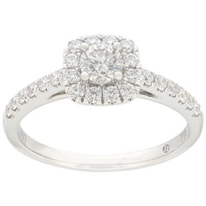 Flawless Engagement Ring with 0.60 carat TW of Diamond in 18ct White Gold