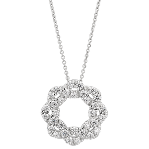 Flawless 9ct White Gold Diamond Pendant (1/2 carat)