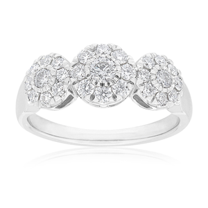 Flawless Cut 9ct White Gold with 0.60 carat of Diamonds
