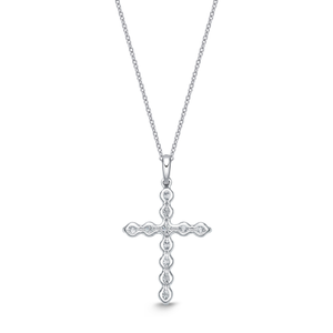 50-54Pt 18ct white gold Cross Pendant