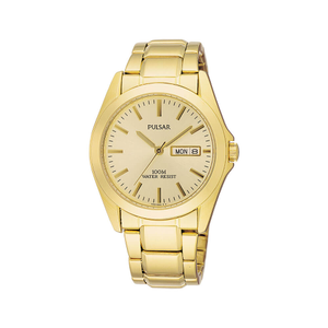 Pulsar PJ6002X WR100 Gold Tone Mens Watch