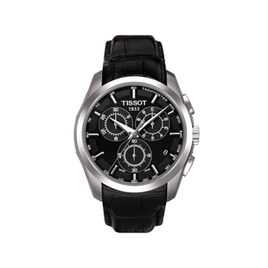 Tissot Couturier T0356171605100 Black Leather Mens Watch
