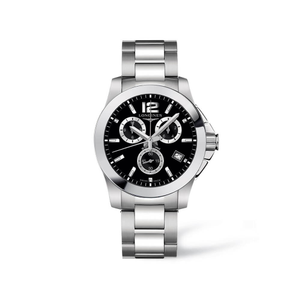 Longines Conquest L36604566 Silver Stainless Steel Mens Watch