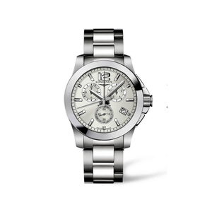 Longines Conquest L36604766 Silver Stainless Steel Mens Watch