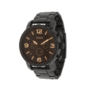 Fossil 'Nate' JR1356 Matte Black Stainless Steel Gents Watch