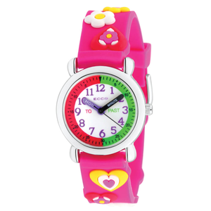 ECC Hearts Pink Strap Kids Watch